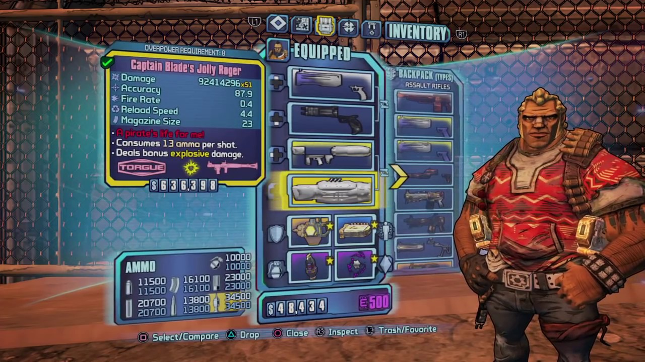 Borderlands 2 PS3/PS4 & PC Black/Hybrid loot save download