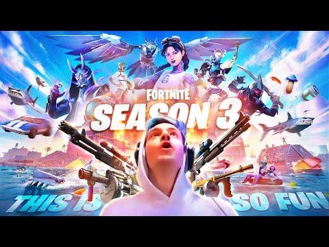 *NEW* FORTNITE SEASON 3 IS HERE! REACTION AND GAMEPLAY!