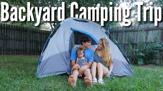 Going Camping in our Backyard | Teen Mom Vlog