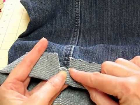 Hemming Jeans The Easy Way!!