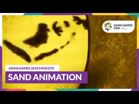 ASIAN GAMES 2018 MASCOTS - SAND ANIMATION