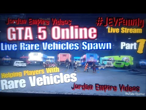 GTA 5 Online #JEVFamily Dubsta 2 & Hearse Spawn Help ( Rare Vehicles, Fast Cash, Online Help & Fun)