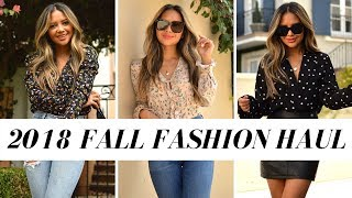 2018 Fall Fashion Try-On Haul | Zara, Mango, Revolve, Pretty Little Thing and More!!