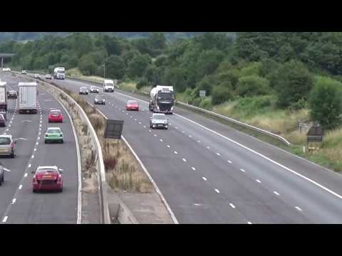 EDDIE STOBARTS WITH LOMAS TANKERS ON M5,GLOUCESTER JULY 2016