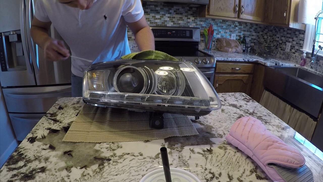 Audi A6 C6 Headlight Retrofit Youtube