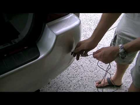 hqdefault how to fit reverse parking sensors to a toyota highlander kluger Flood Light Wiring Diagram at eliteediting.co
