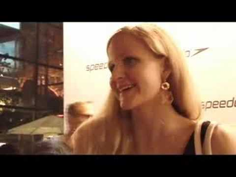 Kirsty Coventry on Speedo red carpet Beijing