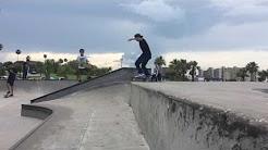 Skate fails and lands Corpus Christi Cole park