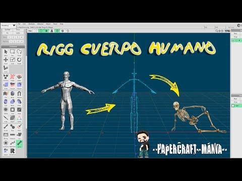 "Como poner huesos a un modelo humano metasequoia ""tutoriales papercraft"""