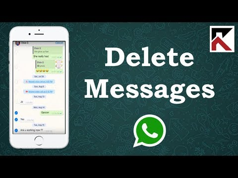 How to delete sent whatsapp messages on iphone