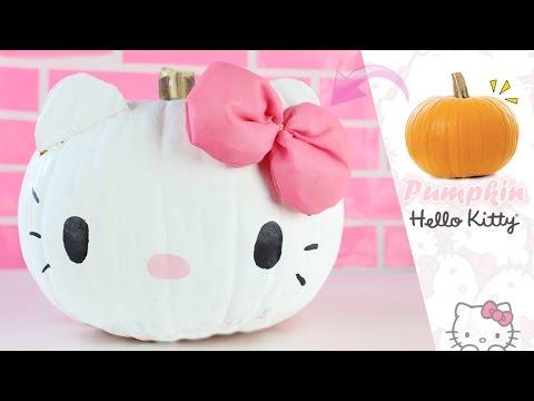 Decora una calabaza para halloween de hello kitty youtube - Hacer calabaza halloween ...