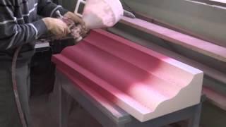 Напыление армирующего покрытия на карниз и пенополистирола(, 2014-03-28T07:35:57.000Z)
