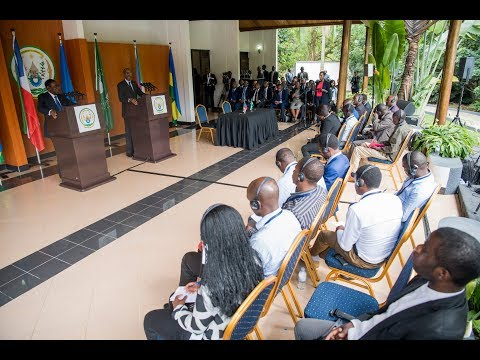 President Kagame and President Obiang of Equatorial Guinea joint press conference
