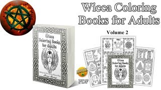 Wicca Coloring Books for Adults:Mythology, Gods, Wiccan Anti-stress Relaxation Therapy