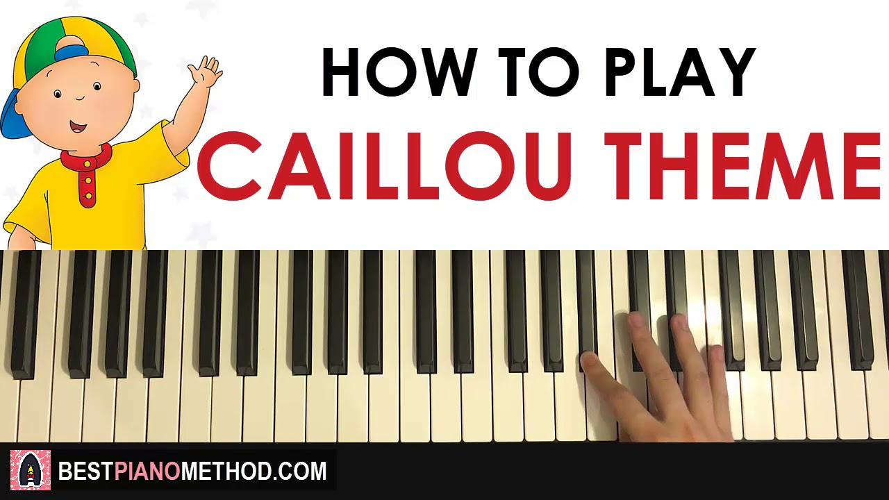 HOW TO PLAY - Caillou Theme Song (Piano Tutorial Lesson)