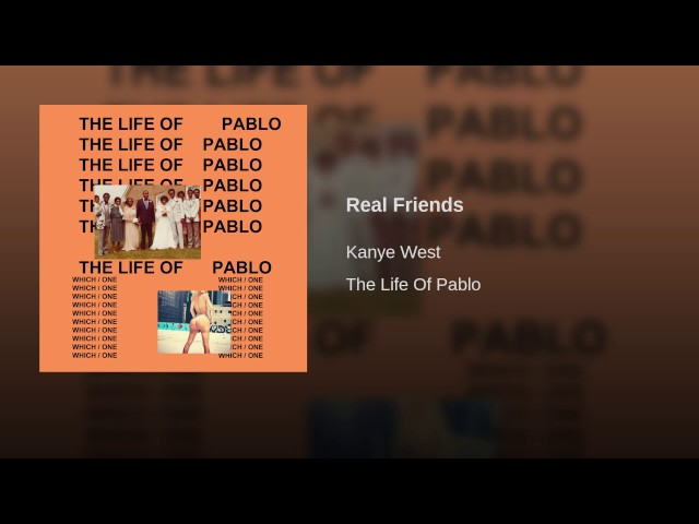 Kanye West Real Friends Lyrics Genius Lyrics