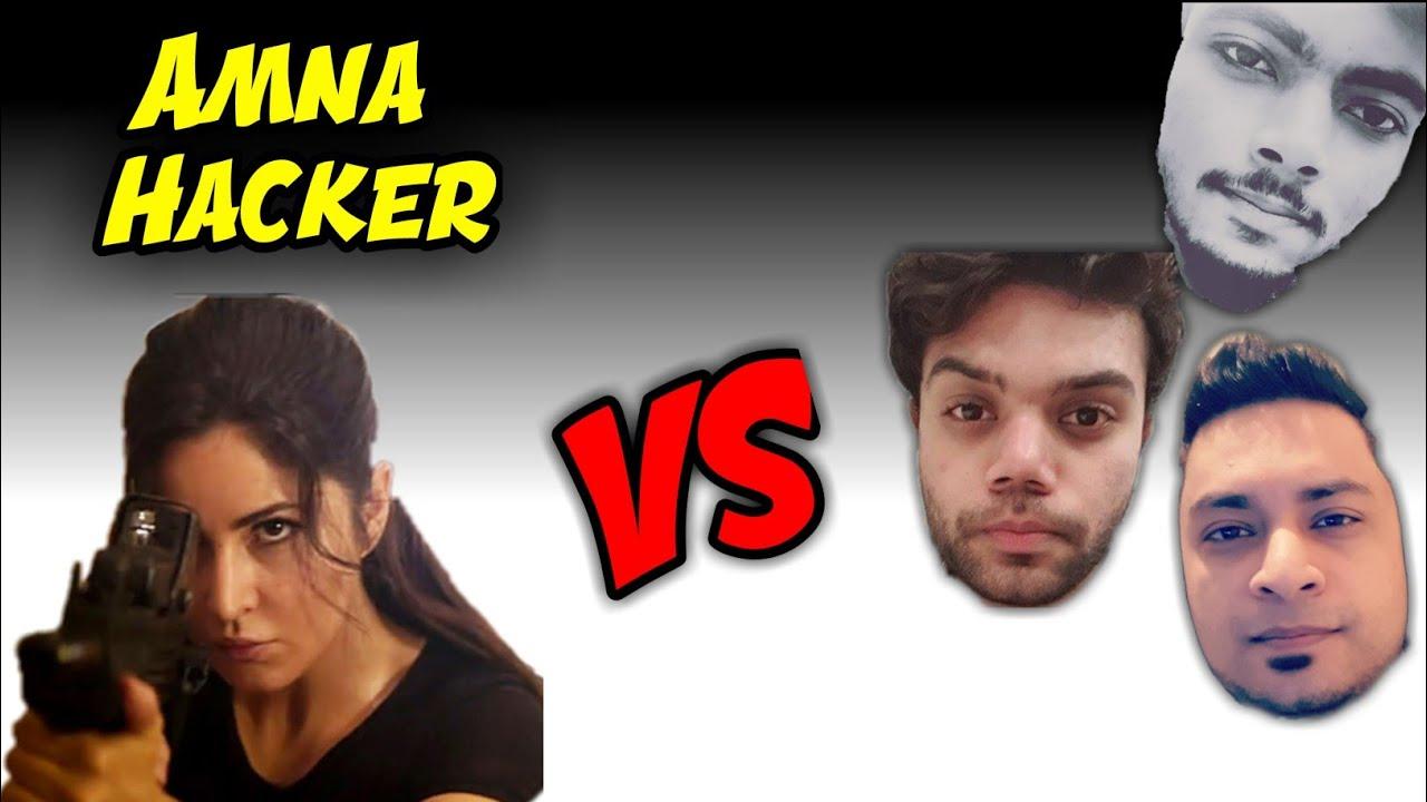 ANONYMOUS - Ducky Bhai - J Plays VS Amna Hacker / PUBG MOBILE