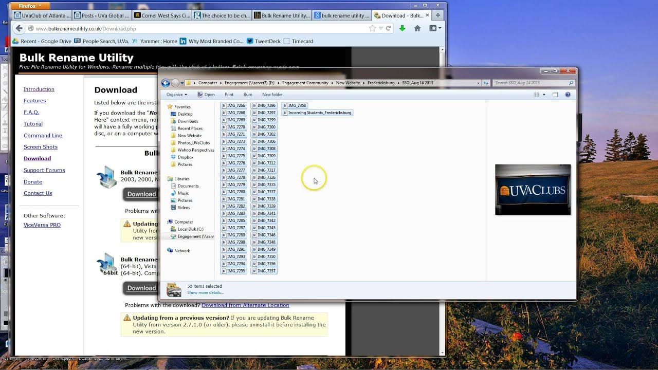 Renaming Files Using Bulk Rename Utility