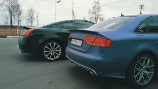 Infiniti G37   vs   Audi A4 (Белгород) .  Все ждали этой гонки ...