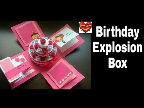 DIY - Birthday Explosion Box Tutorial | How to Make Cake Explosion Box