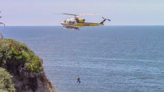LACo.FD Hiker Rescue - Palos Verdes Estates
