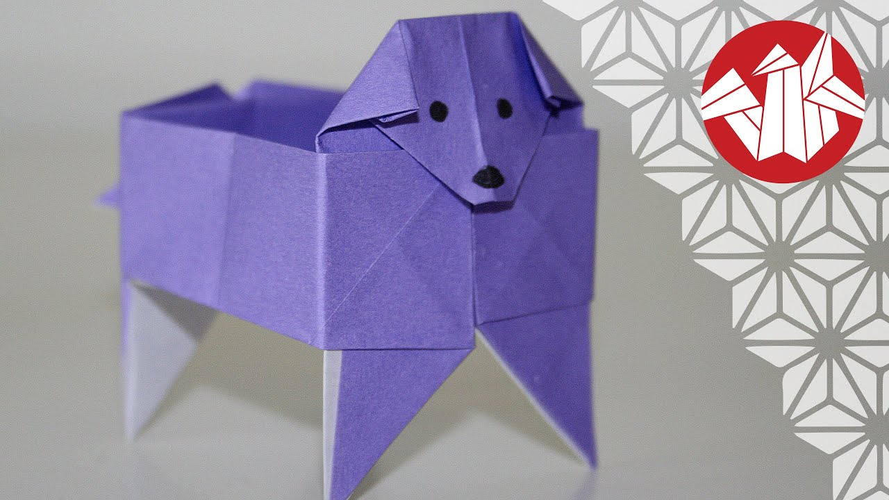 origami boite chien dog box senbazuru youtube. Black Bedroom Furniture Sets. Home Design Ideas