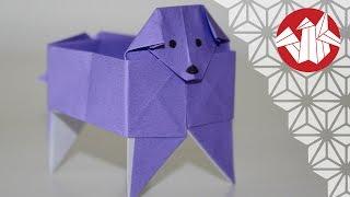 Origami - Boîte Chien