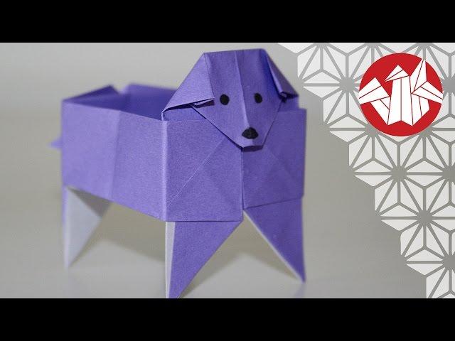 Origami - Boite chien - Dog box [Senbazuru]