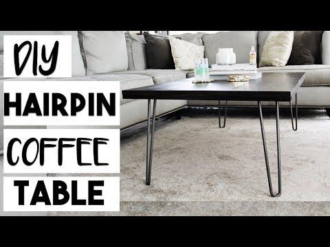 DIY DECOR: DIY Hairpin Leg Coffee Table for $100