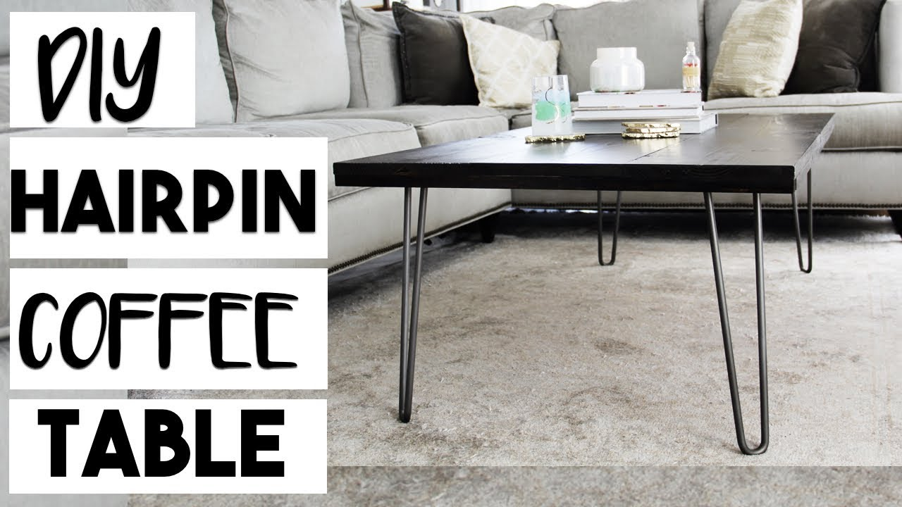 DIY DECOR: DIY Hairpin Leg Coffee Table For $100