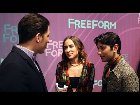 "Zelda Williams and Mark Indelicato of ""Dead of Summer"" at the Freeform Upfront"
