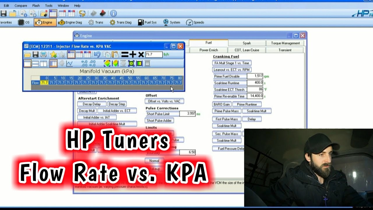 Repeat HP Tuners Flow Rate vs  KPA For Return Style Boost