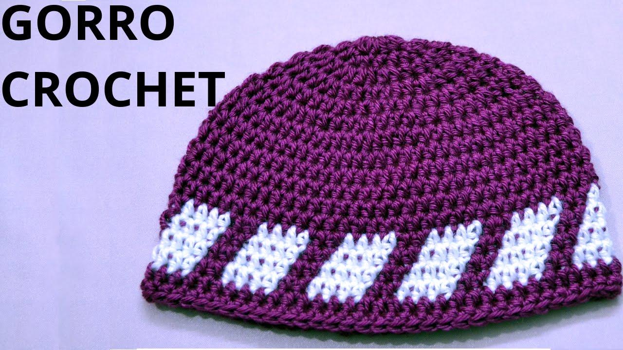 Como hacer un #gorro para niño 6/7 años en tejido crochet o ...
