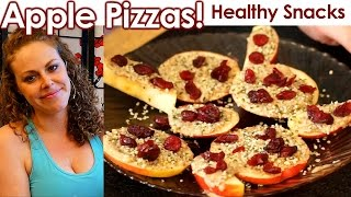 Healthy Snacks & Weight Loss Tips: Apple Pizza!!! High Protein, Vegetarian, Vegan, Gluten Free