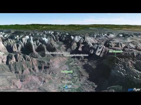 Zion and Bryce Canyon Map - US National Parks 3D Maps - GeoFlyer - iPhone