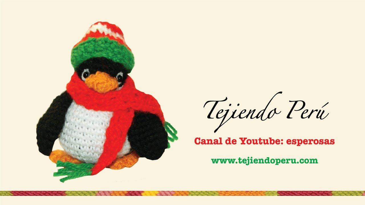 Pingüino de navidad en crochet (amigurumi) - YouTube