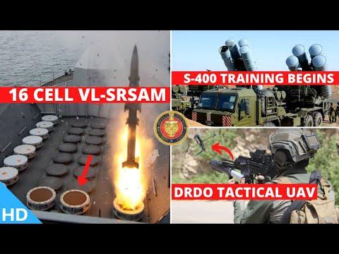 Indian Defence Updates : 16 Cell VL-SRSAM,S-400 Training,50