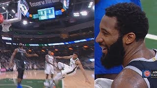 Giannis Gets Shoved By Andre Drummond Who Gets Ejected! Bucks vs Pistons Game 1 2019 NBA Playoffs