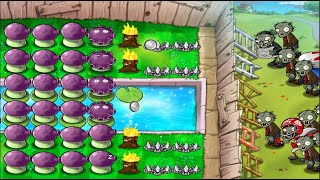 Best strategy Plants vs Zombies | Survival Pool Using Night Plants