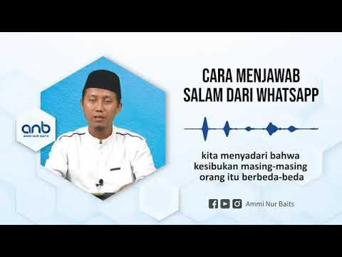 Cara Menjawab Salam Dari Whatsapp - YouTube