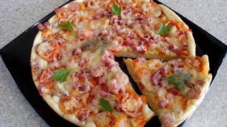 Пицца на сковородке. Быстрая пицца на сковороде рецепт