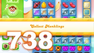 Candy Crush Jelly Saga Level 738 (3 star, No boosters)