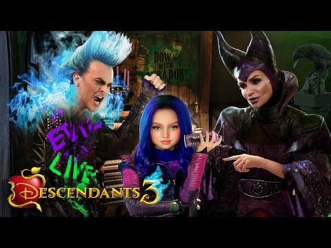 descendants-3-mal's-childhood!-💜🔥-mal-as-a-child-with-maleficent-and-hades!- -alice-edit!