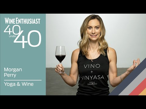 wine article 40 Under 40 Live Yoga  Wine with Morgan Perry