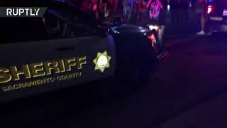 Woman hit by police car during Stephon Clark protest in Sacramento, US