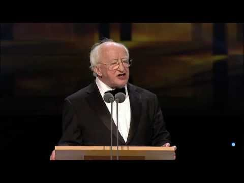 Fionnula Flannagan, IFTA 2012 Lifetime Achievement Award  presented by President Michael D. Higgins