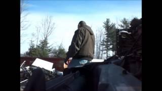 Burned Tin Dump Junk  4 7 14