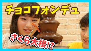 おかし大量!チョコレートタワーにいろんなお菓子をつけてチョコパーティー!