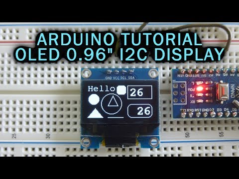 "Arduino Tutorial: OLED 0.96"" I2C/SPI Display"