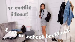 30 BACK TO SCHOOL OUTFIT IDEAS | FALL LOOKBOOK | cute & casual